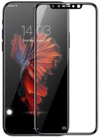 Screen Protector Glas 0.3mm 3D Arc Wit - iPhone X