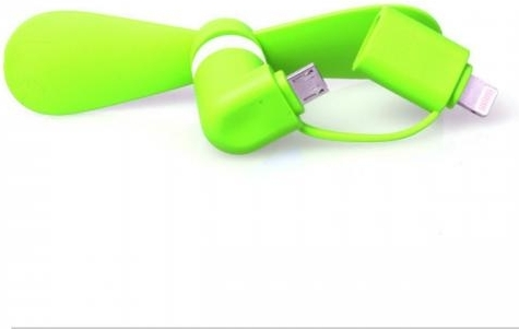 Mini Fan Lightning Micro-USB Groen